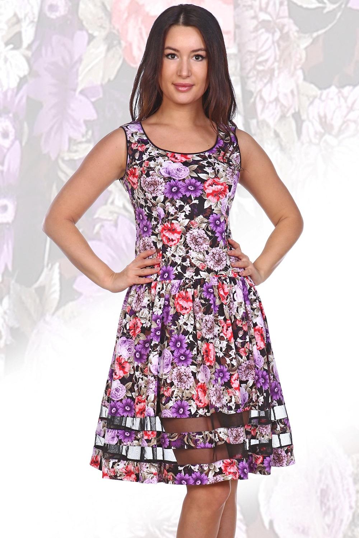 Платье женское Ярослава с гипюровыми вставкамиПлатья и сарафаны<br><br><br>Размер: Розовый