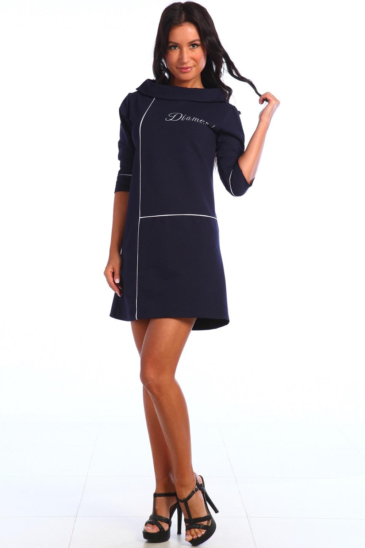 Платье женское Мальта с воротником хомутПлатья и сарафаны<br><br><br>Размер: 54
