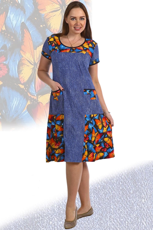 Платье женское Бабочка домашнееКоллекция ВЕСНА-ЛЕТО<br><br><br>Размер: 56