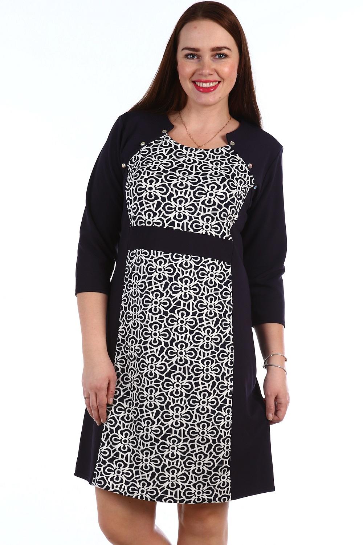 Платье женское Дэби с рукавом 3/4Коллекция ВЕСНА-ЛЕТО<br><br><br>Размер: Розы