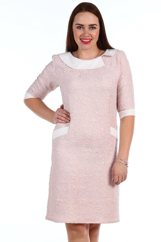Платье женское Джустина с отложным воротникомПлатья и сарафаны<br><br><br>Размер: 56