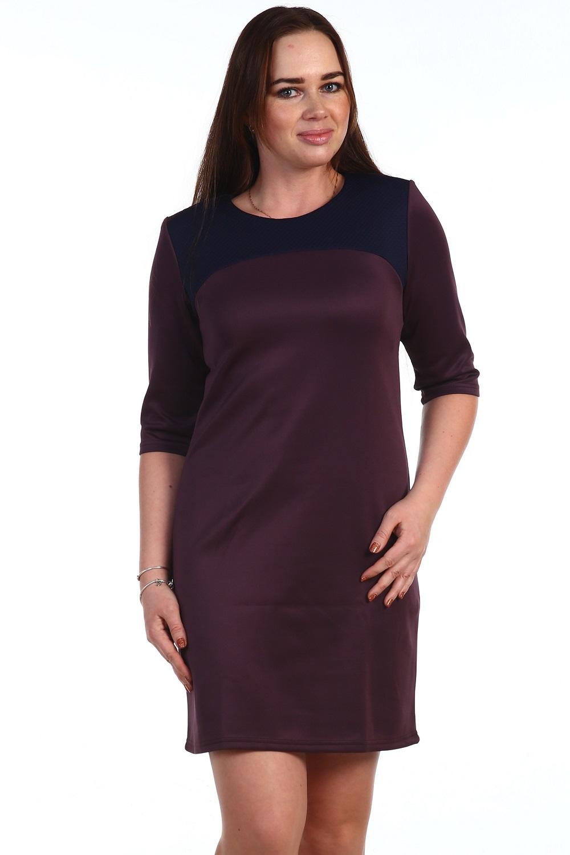 Платье женское Эльдорадо с кожаной кокеткойПлатья и сарафаны<br><br><br>Размер: 60