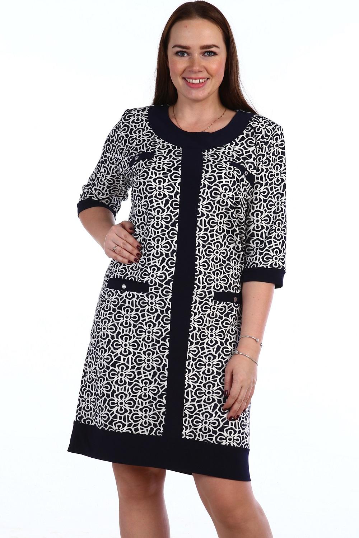 Платье женское Евразия с карманамиКоллекция ВЕСНА-ЛЕТО<br><br><br>Размер: 60