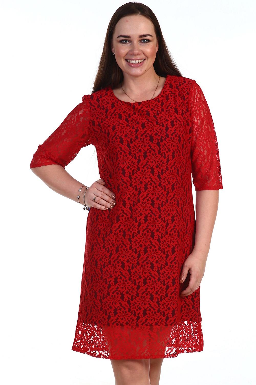 Платье женское Корица из гипюраПлатья и сарафаны<br><br><br>Размер: 58