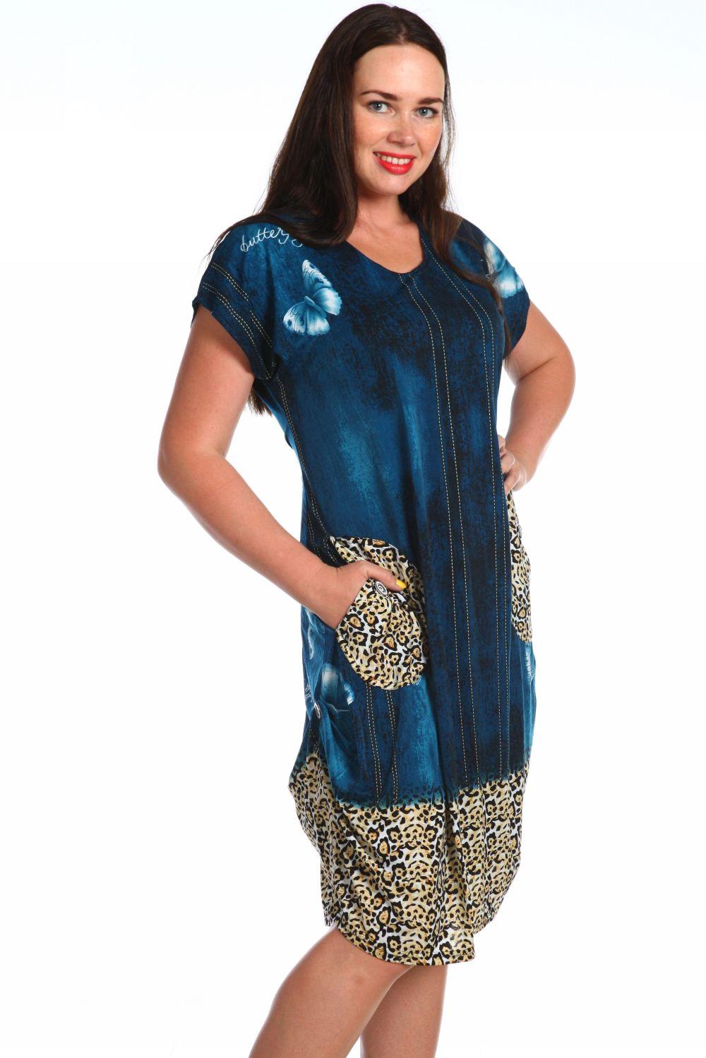Платье женское Одиссея с карманамиДомашняя одежда<br><br><br>Размер: 54
