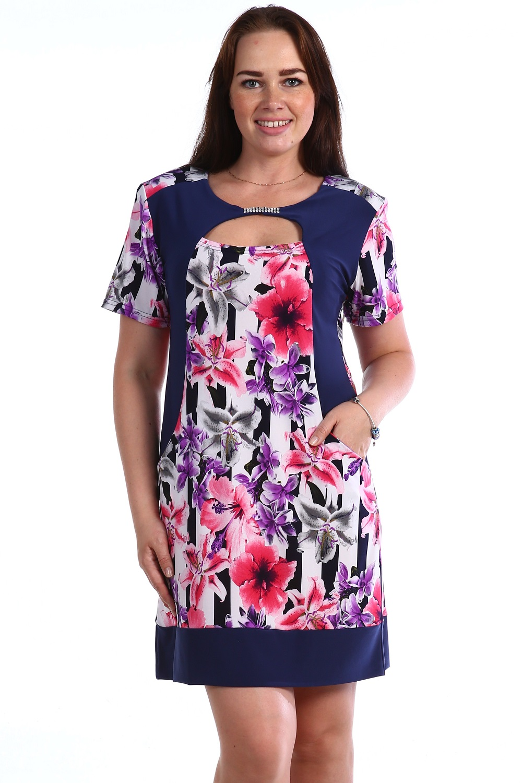 Платье женское Орион с коротким рукавомПлатья и сарафаны<br><br><br>Размер: 50