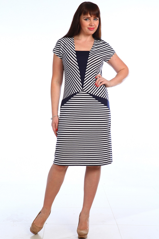 Платье женское Полоса с коротким рукавомПлатья и сарафаны<br><br><br>Размер: 52