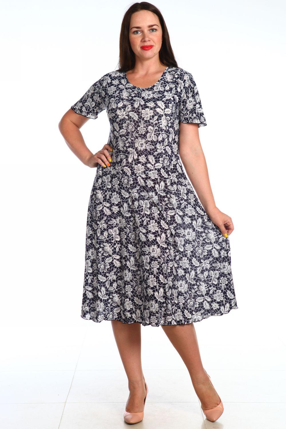 Платье женское Рузанна с коротким рукавомКоллекция ВЕСНА-ЛЕТО<br><br><br>Размер: Белый