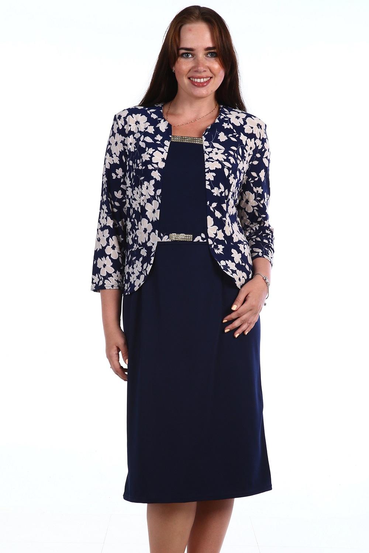 Платье женское Успех с имитацией жакетаКоллекция ВЕСНА-ЛЕТО<br><br><br>Размер: 54