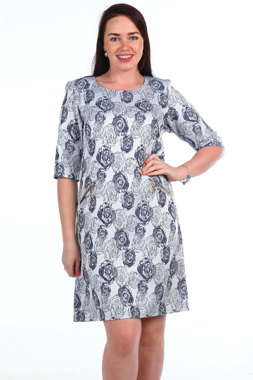 Платье женское Верди с рукавом до локтяПлатья и сарафаны<br><br><br>Размер: 48