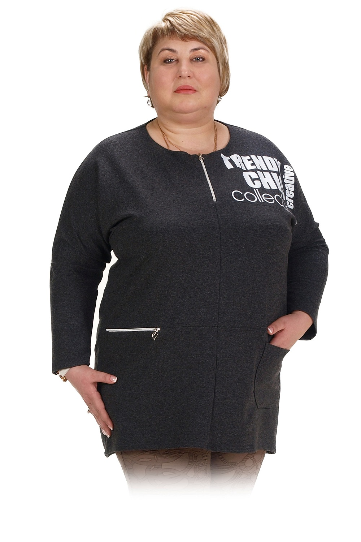 Туника женская Аглая с круглым вырезомКоллекция ВЕСНА-ЛЕТО<br><br><br>Размер: 52