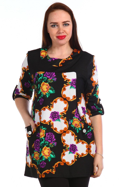 Туника женская Изольда с рукавом 3/4Коллекция ВЕСНА-ЛЕТО<br><br><br>Размер: Серый с розовым
