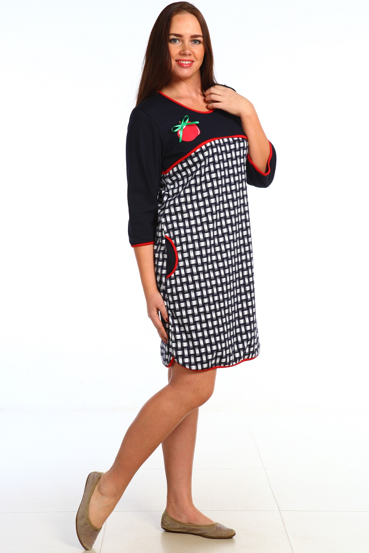 Туника женская Яблонька с карманамиКоллекция ВЕСНА-ЛЕТО<br><br><br>Размер: 58