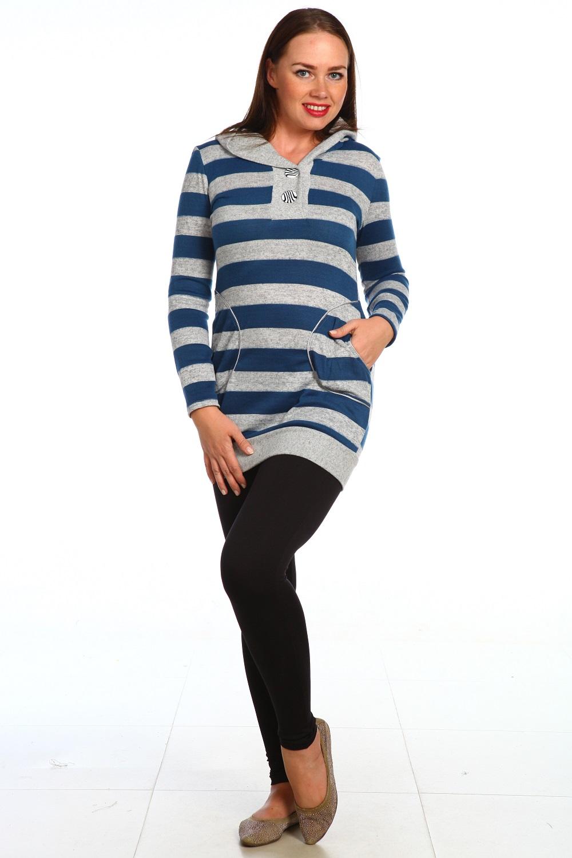 Туника женская Шедевр с капюшономКоллекция ВЕСНА-ЛЕТО<br><br><br>Размер: 56