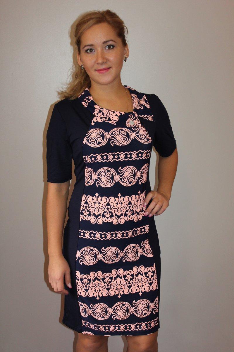 Платье женское с коротким рукавом НадеждаКоллекция ВЕСНА-ЛЕТО<br><br><br>Размер: 58