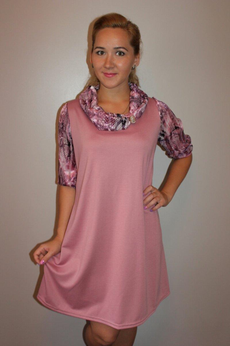 Платье женское Розовый рассветПлатья и сарафаны<br><br><br>Размер: 58
