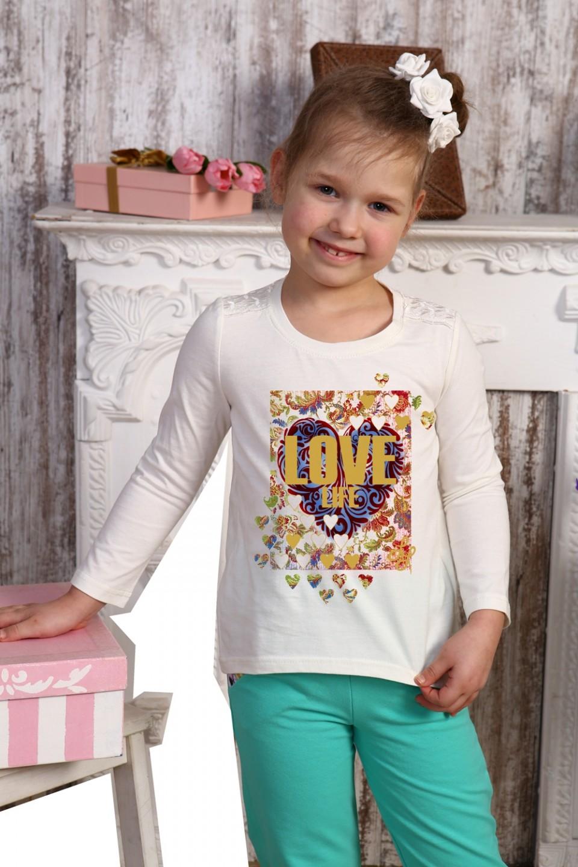 Блузка детская для девочки Веснянка с длинным рукавомКофточки и туники<br><br><br>Размер: 32 - рост 128