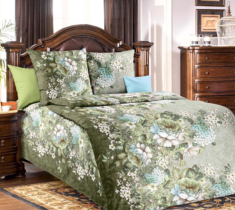Комплект постельного белья Анна 1 из бязиБязь<br><br><br>Размер: 1,5сп (2 нав.70х70)