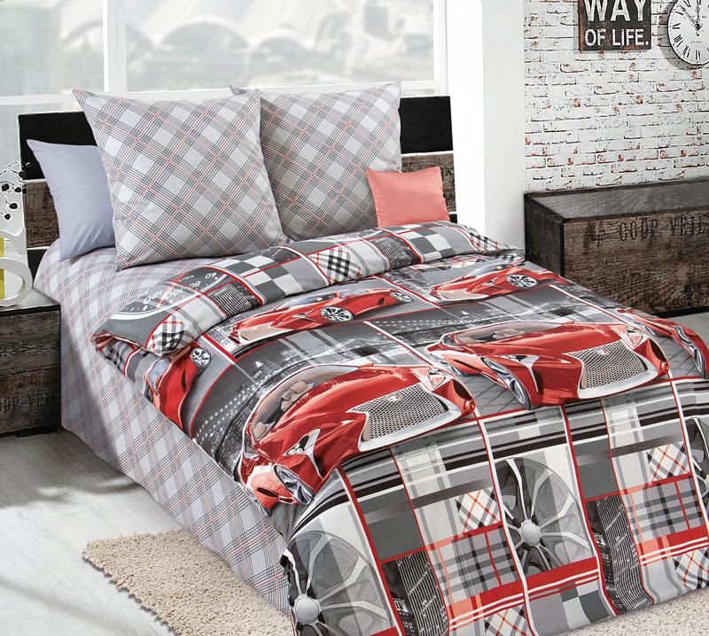 Комплект постельного белья Авеню 1 из бязиДетское постельное белье<br><br><br>Размер: 1,5сп (2 нав.70х70)