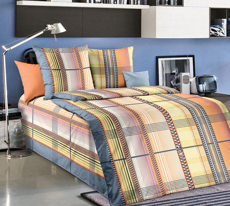 Комплект постельного белья Элиот из бязиБязь<br><br><br>Размер: 1,5сп (2 нав.70х70)