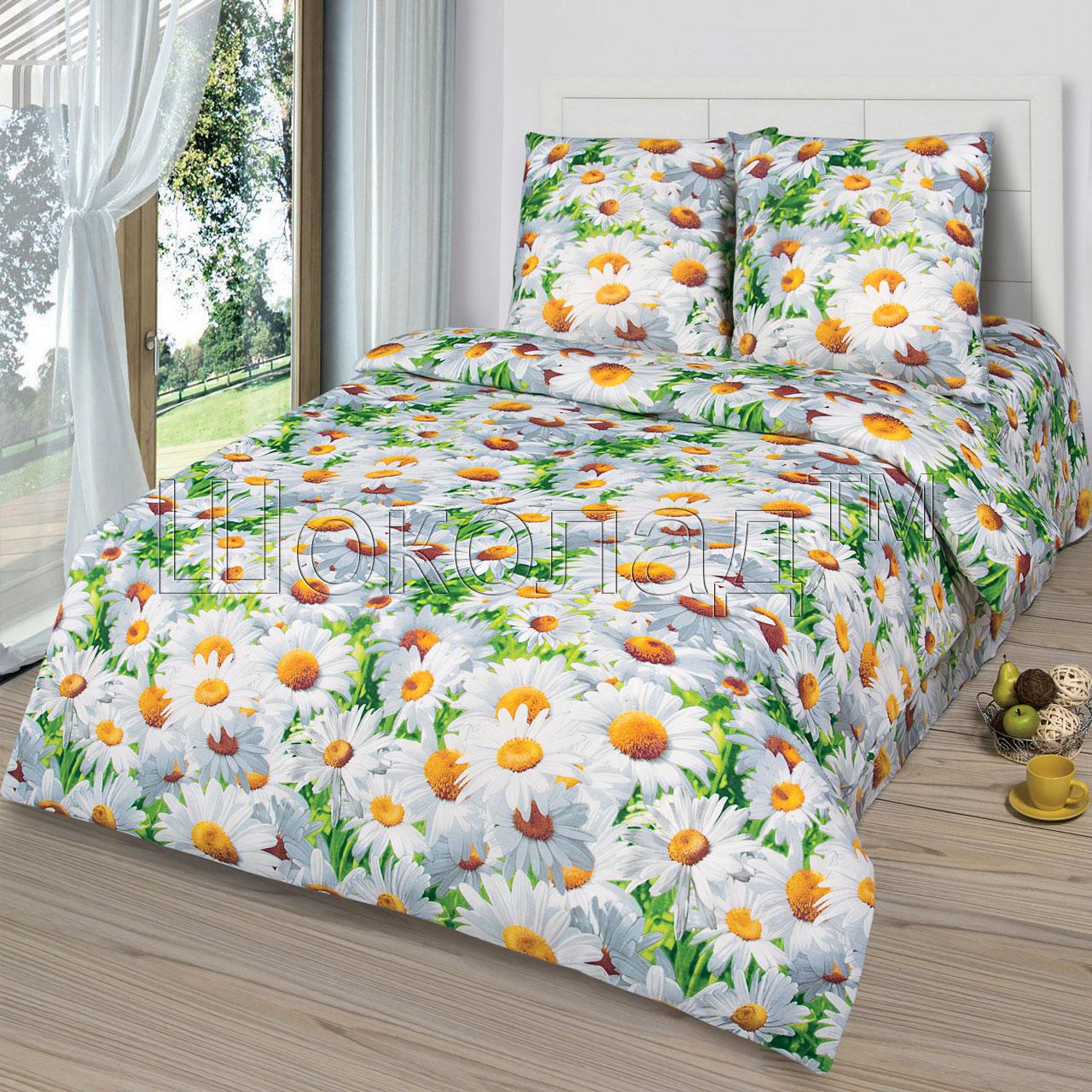 Комплект постельного белья Офелия из бязиБязь<br><br><br>Размер: 1,5сп (2 нав.70х70)