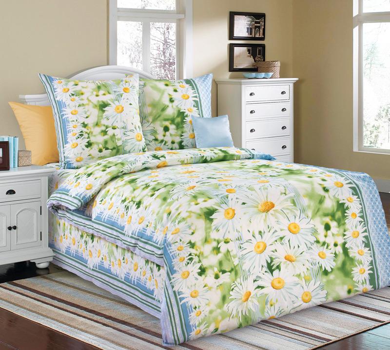 Комплект постельного белья Раздолье 1 из бязиБязь<br><br><br>Размер: 1,5сп (2 нав.70х70)