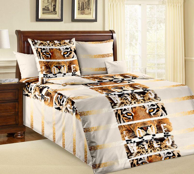 Комплект постельного белья Саванна из бязиБязь<br><br><br>Размер: 1,5сп (2 нав.70х70)