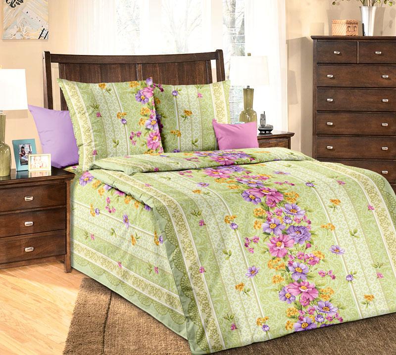 Комплект постельного белья Талисман 1 из бязиБязь<br><br><br>Размер: 1,5сп (2 нав.70х70)