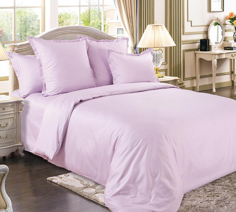 Комплект постельного белья Амарант из сатинаСатин<br><br><br>Размер: Евромакси (2 нав. 70х70)