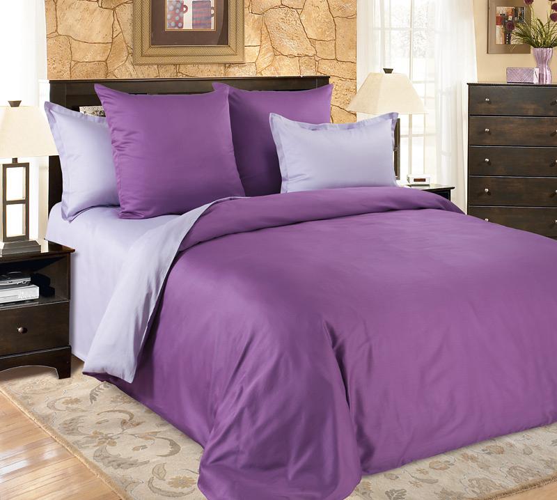 Комплект постельного белья Амулет из сатинаСатин<br><br><br>Размер: 2сп. с европростыней (2 нав. 70х70)