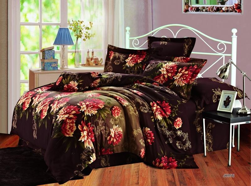 Комплект постельного белья Гармония из сатинаСатин<br><br><br>Размер: Семейный (2 нав. 70х70)