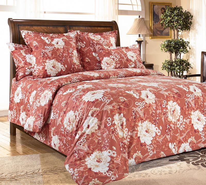 Комплект постельного белья Каролина из сатинаСатин<br><br><br>Размер: Семейный (4 нав) 70x70 (2 шт) и 50х70 (2 шт)