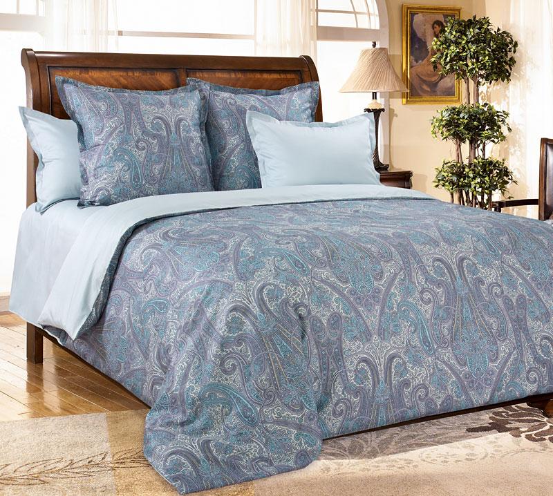 Комплект постельного белья Кашмир 5 из сатинаСатин<br><br><br>Размер: Евростандарт (4 нав)70x70 (2 шт) и 50х70 (2 шт)