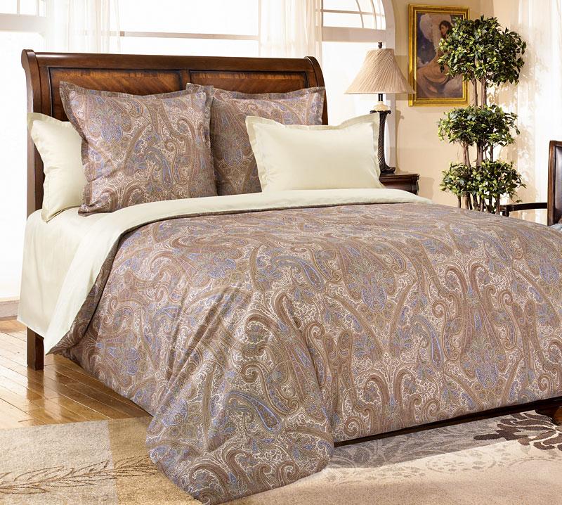 Комплект постельного белья Кашмир 6 из сатинаСатин<br><br><br>Размер: Евростандарт (4 нав. - 70х70 см (2 шт.), 50х70 см. (2 шт.))
