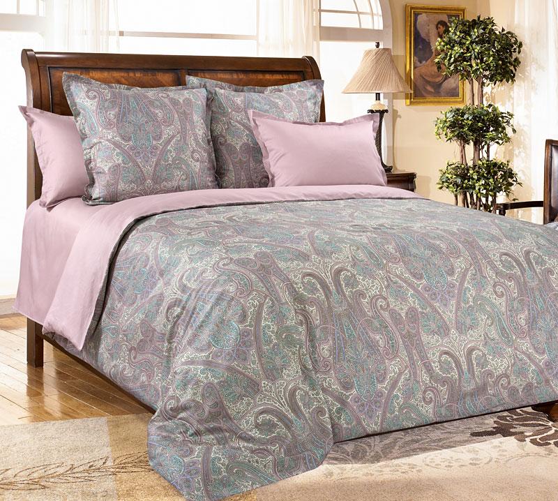 Комплект постельного белья Кашмир 8 из сатинаСатин<br><br><br>Размер: 2сп. с европростыней (2 нав. 70х70)