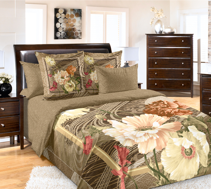 Комплект постельного белья Кассандра из сатинаСатин<br><br><br>Размер: Семейный (4 нав) 70x70 (2 шт) и 50х70 (2 шт)