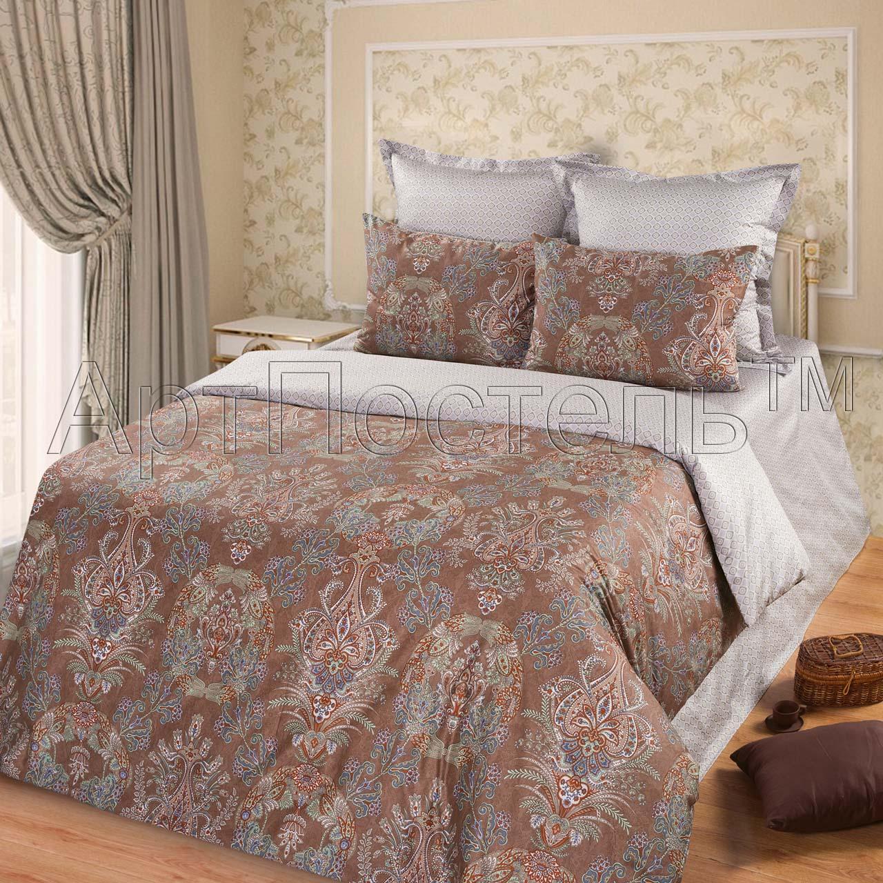 Комплект постельного белья Кристалл из сатинаСатин<br><br><br>Размер: Семейный (4 нав):70x70 (2 шт) и 50х70 (2 шт)