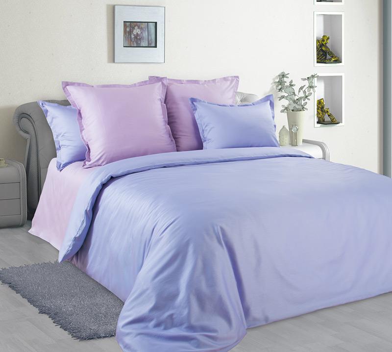 Комплект постельного белья Офелия из сатинаСатин<br><br><br>Размер: Евростандарт (2 нав. 70х70)