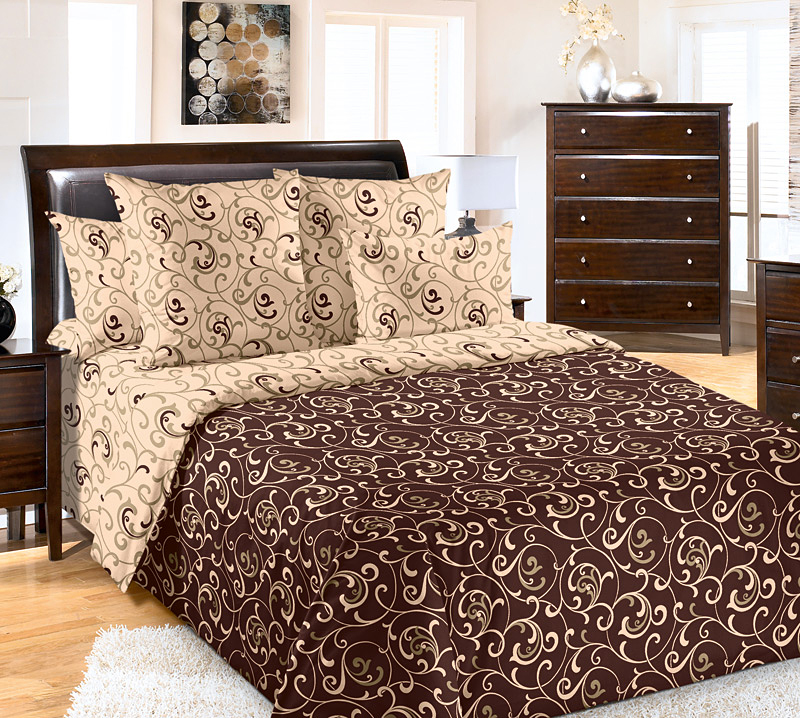Комплект постельного белья Вензель с компаньоном из сатинаСатин<br><br><br>Размер: Евростандарт (2 нав. 70х70)