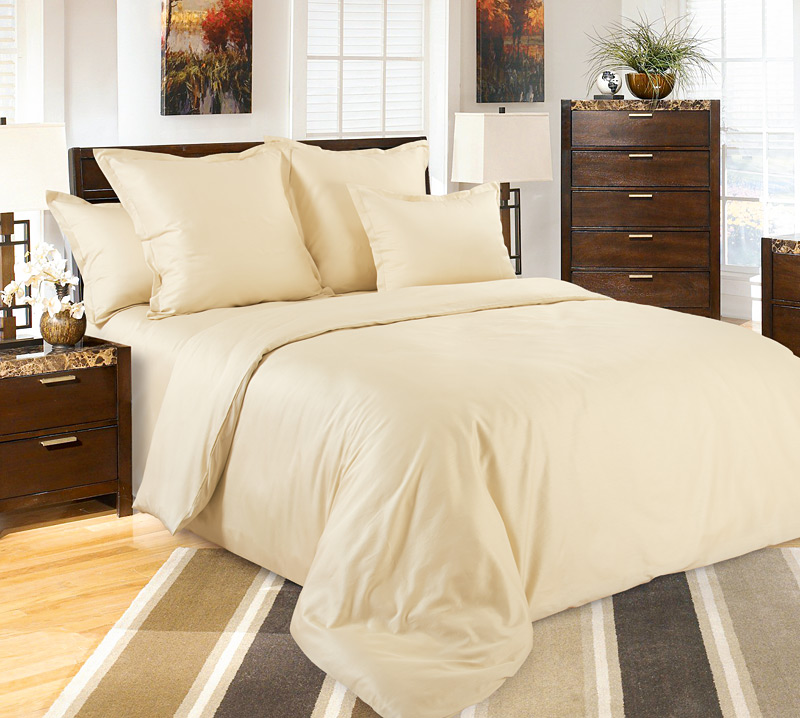 Комплект постельного белья Жасмин из сатинаСатин<br><br><br>Размер: Евростандарт (2 нав. 70х70)