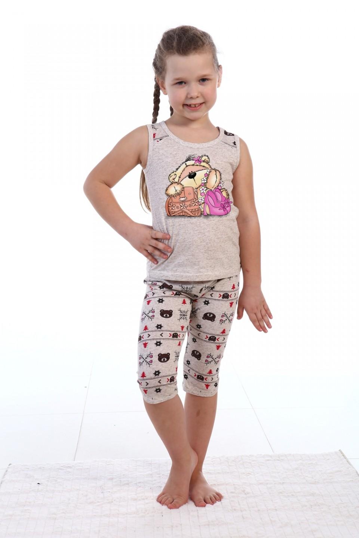 Пижама детская для девочки Милашка майка и бриджиХалаты и пижамы<br><br><br>Размер: 34 - рост 134