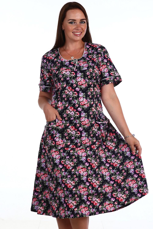 Платье женское Летний цвет с карманамиКоллекция ВЕСНА-ЛЕТО<br><br><br>Размер: 54