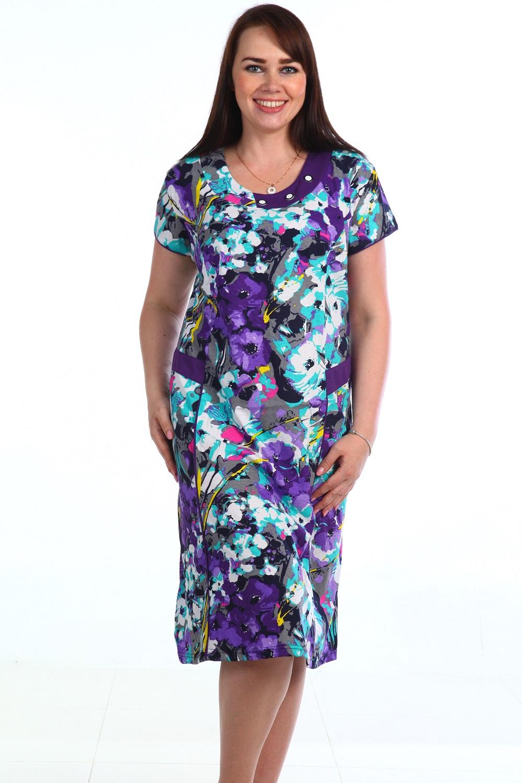 Платье женское Соцветие с карманамиКоллекция ВЕСНА-ЛЕТО<br><br><br>Размер: 56