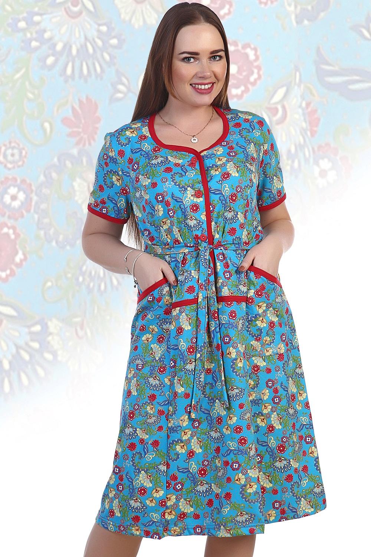 Платье женское Зоя с поясомКоллекция ВЕСНА-ЛЕТО<br><br><br>Размер: Бирюзовый