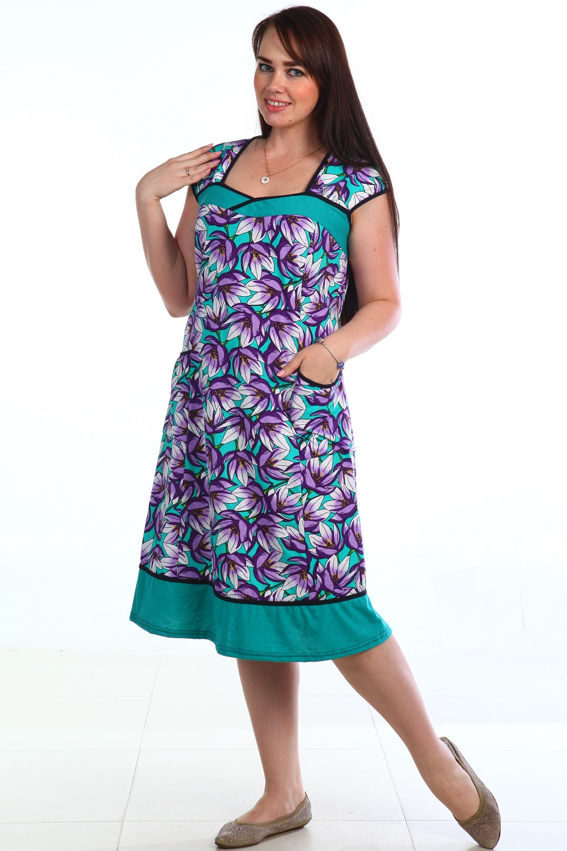 Сарафан женский Кувшинка с карманамиКоллекция ВЕСНА-ЛЕТО<br><br><br>Размер: 56