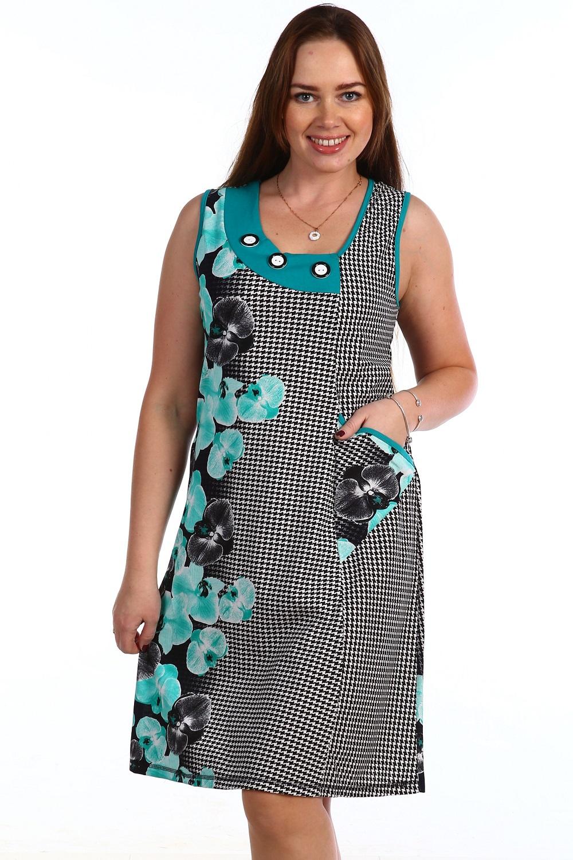 Сарафан женский Паветта с карманомКоллекция ВЕСНА-ЛЕТО<br><br><br>Размер: 52