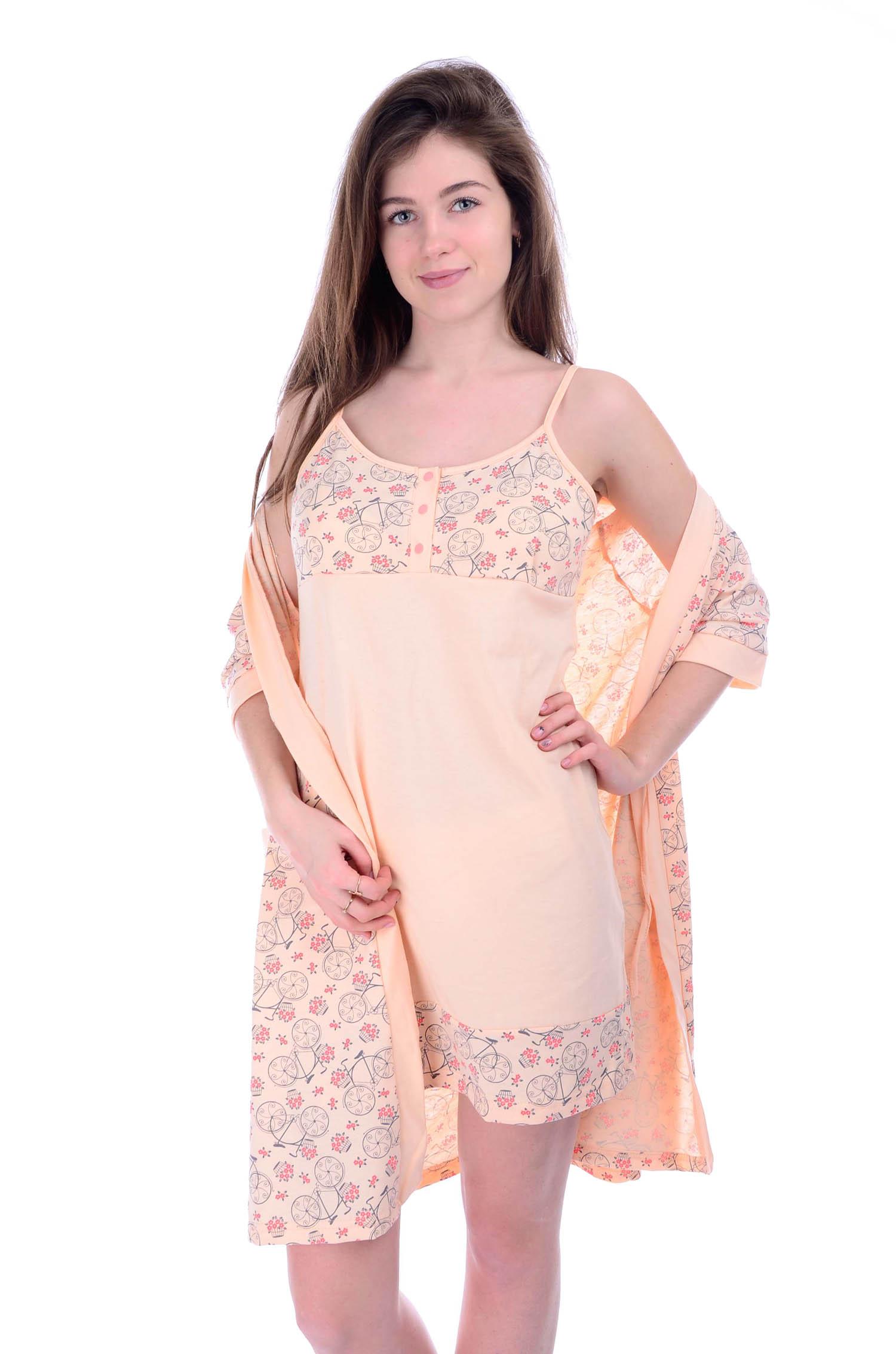 Комплект женский Прованс сорочка и халатДомашние комплекты, костюмы<br><br><br>Размер: 52