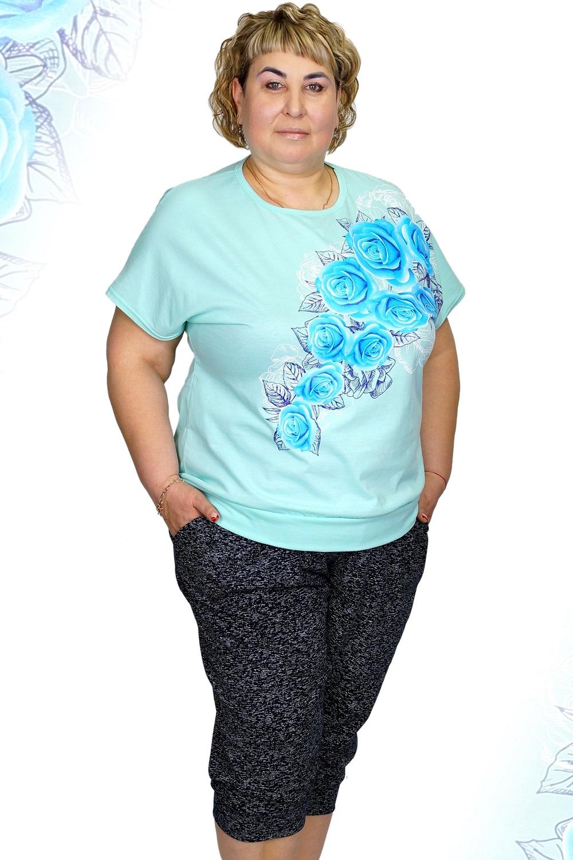 Костюм женский Мармелад блуза и бриджиКостюмы<br><br><br>Размер: 62