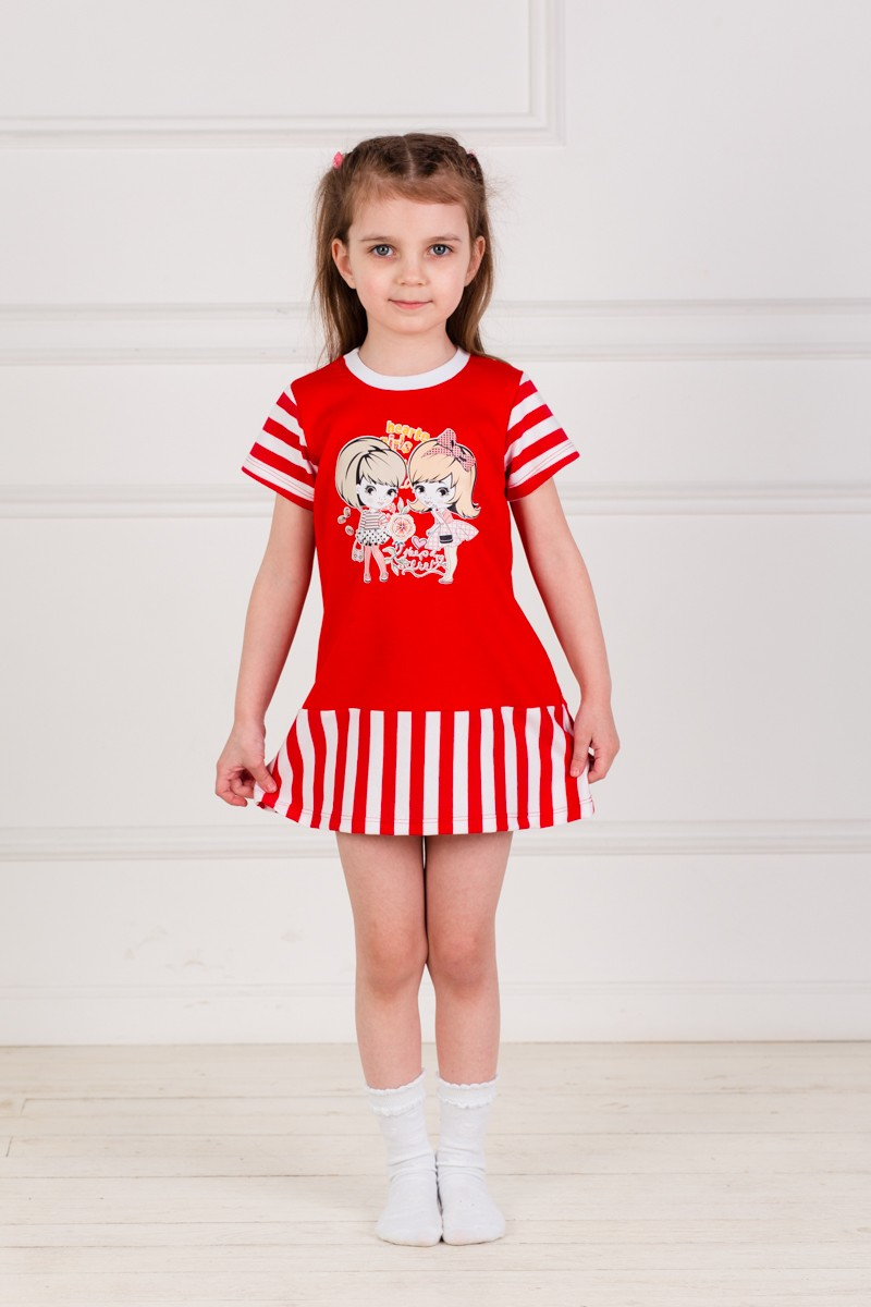 Платье детское Модница с коротким рукавомПлатья и сарафаны<br><br><br>Размер: 30