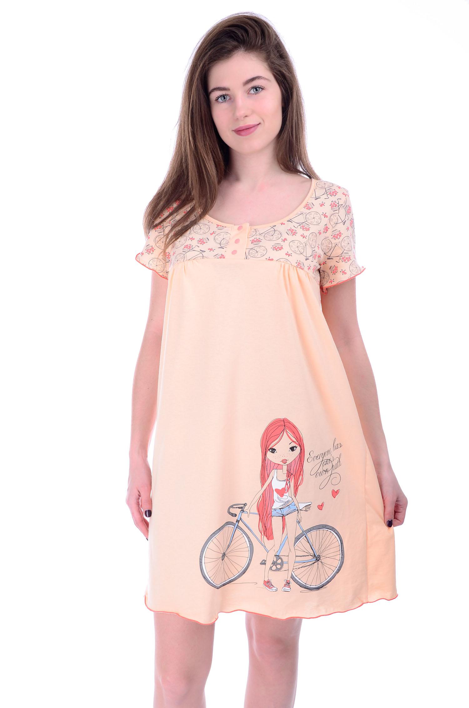 Сорочка женская Джулия с коротким рукавомСорочки<br><br><br>Размер: 48